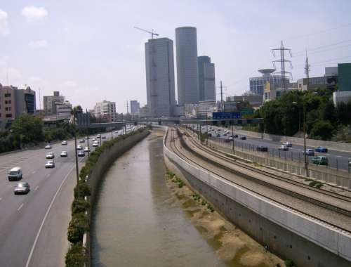 Highway into Tel-Aviv, Israel free photo