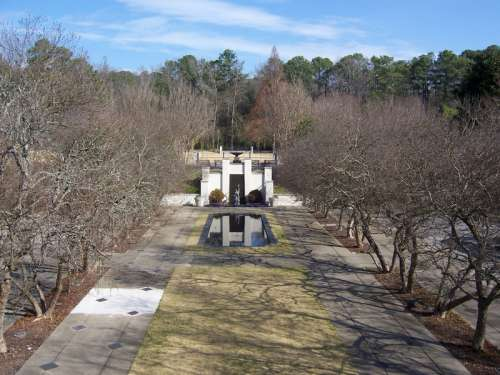 Hill Garden during winter in Birmingham, Alabama free photo