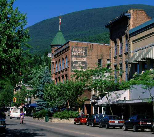 Historic Baker Street in Nelson, British Columbia, Canada free photo