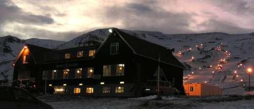 Hlíðarfjall ski slopes in Akureyri, Iceland free photo