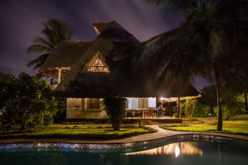 Holiday House and pool in Kenya, Africa free photo