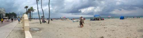 Hollywood Beach in March 2008 in Florida free photo
