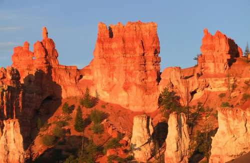 Hoodoos sediment formation in Bryce Canyon National Park, Utah free photo