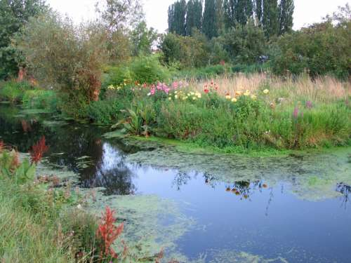 Hortillonnages landscape in Amiens, France free photo