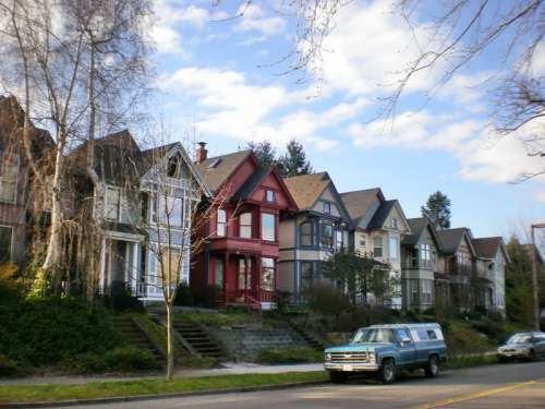 Houses in the South J Street Historic District in Tacoma, Washington free photo
