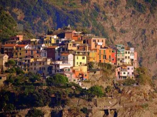 Houses on the Mountain in  Corniglia, Italy free photo