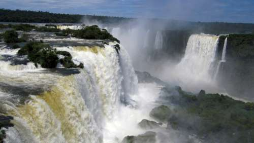 Iguazu Falls on the Border of Brazil and Argentina free photo