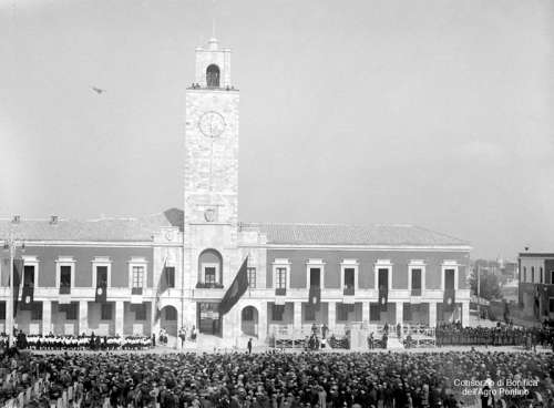 Inauguration of Littoria in 1932 in Latina, Italy free photo