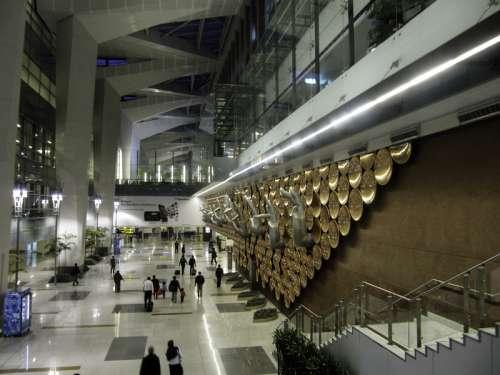 Indira Gandhi International Airport in New Delhi, India free photo