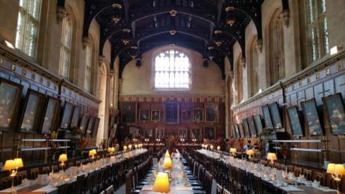 Inside Christ Church at Oxford free photo