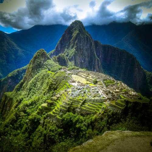 Intensely Colored Overview of Machu Picchu, Peru free photo