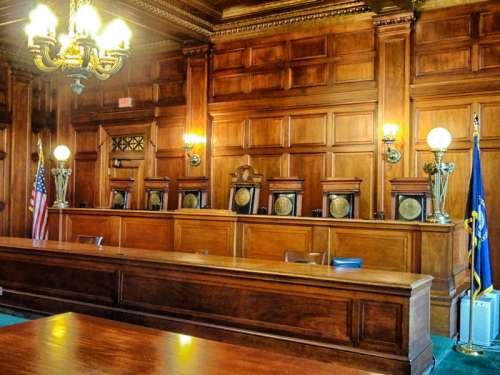 Interior of the Supreme Court in Frankfort, Kentucky free photo