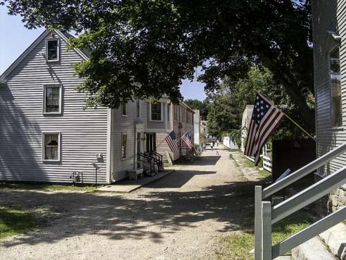 Jefferson Street at the Strawbery Banke Museum in Portsmouth, New Hampshire free photo