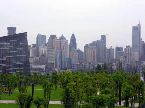 Jiefangbei CBD skyline in Yuzhong district in Chongqing, China free photo