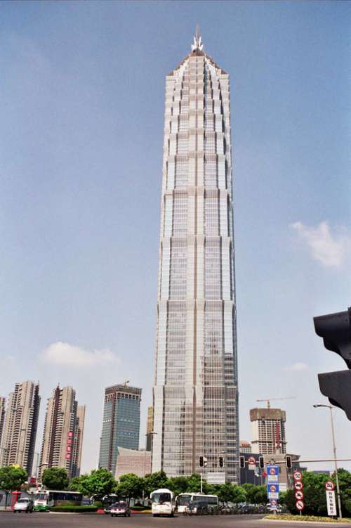 Jin Mao building in Shanghai, China free photo