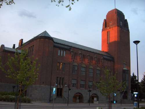 Joensuu City Hall in Finland free photo