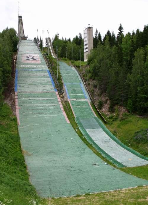 Jyväskylä ski jump in Finland free photo
