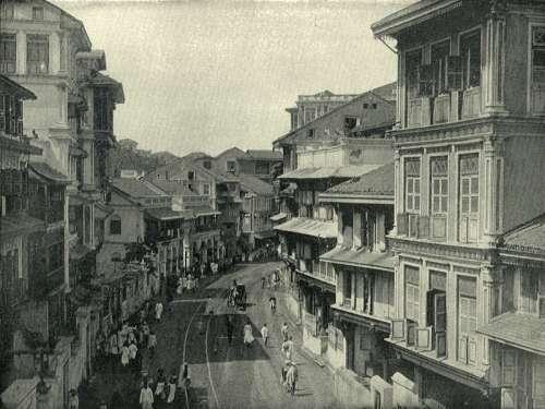 Kalbadevie Road around 1890 in Mumbai, India free photo