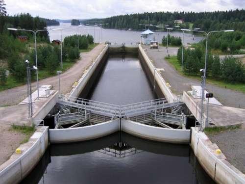 Kapeenkoski Lock of Keitele–Päijänne canal in Aanekoski, Finland free photo