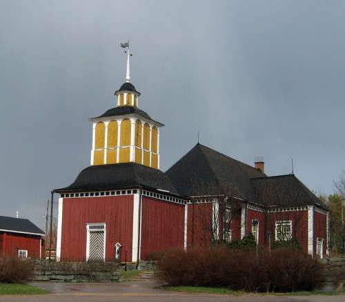 Karvia Church Building in Finland free photo