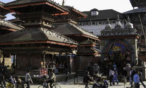 Kathmandu Durbar Market in Nepal free photo