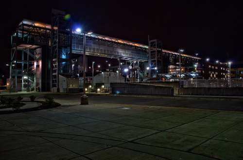Kent Station during the night in Washington free photo