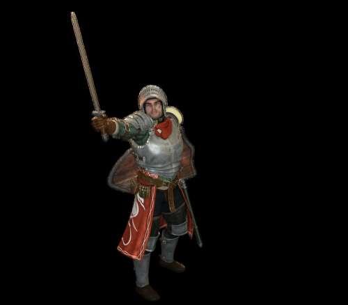 Knight 3d Model free photo