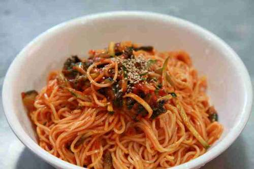 Korean Noodles in Bowl free photo