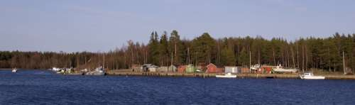 Kurtinhauta fishing harbour in Haukipudas, Finland free photo