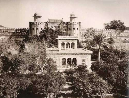 Lahore Fort in 1870 in Pakistan free photo