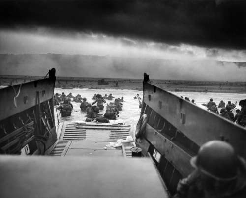 Landing Craft delivering Troops to Omaha Beach during D-Day, World War II free photo