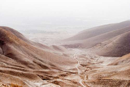 Landscape and Desert around the Jordan Valley, Israel free photo