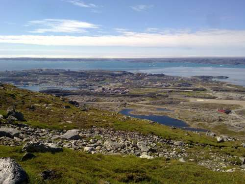Landscape and Horizon in Greenland and the Arctic free photo