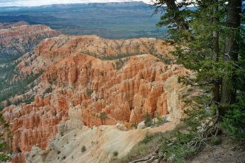 Landscape and rock at Bryce Canyon National Park, Utah free photo