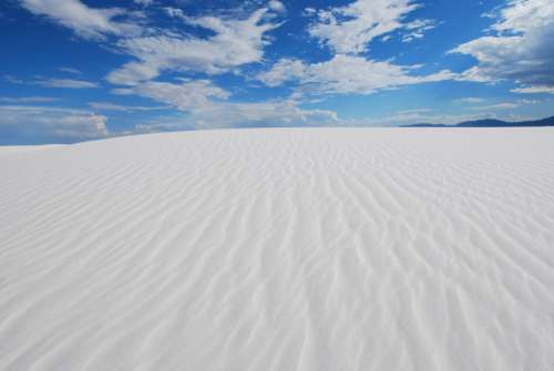 Landscape and Skies of White Sands, New Mexico free photo