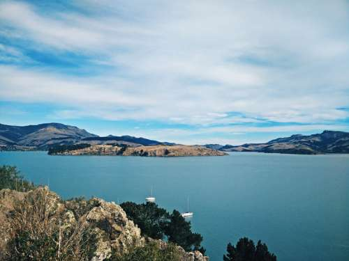 Landscape and water around Christchurch, New Zealand free photo
