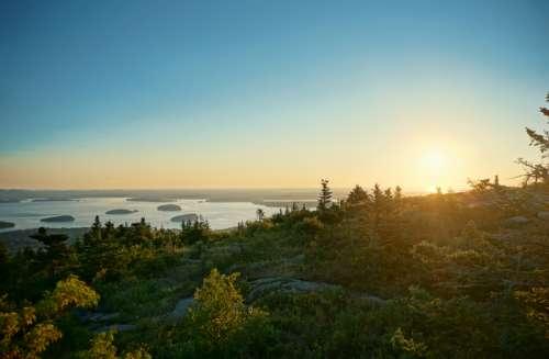Landscape at Bar Harbor at Acadia National Park, Maine free photo
