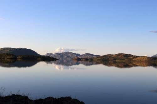 Landscape at Lake Laberge in Whitehorse, Yukon Territory free photo