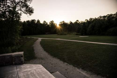 Landscape at Sunset at J.W. Wells State Park, Michigan free photo