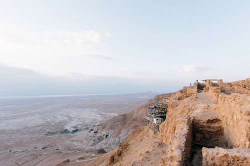 Landscape from the top of the Mountain in Masada National Park, Israel free photo