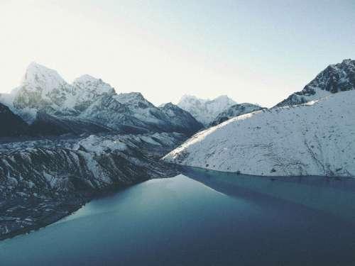 Landscape of Gokyo Lakes in Nepal free photo