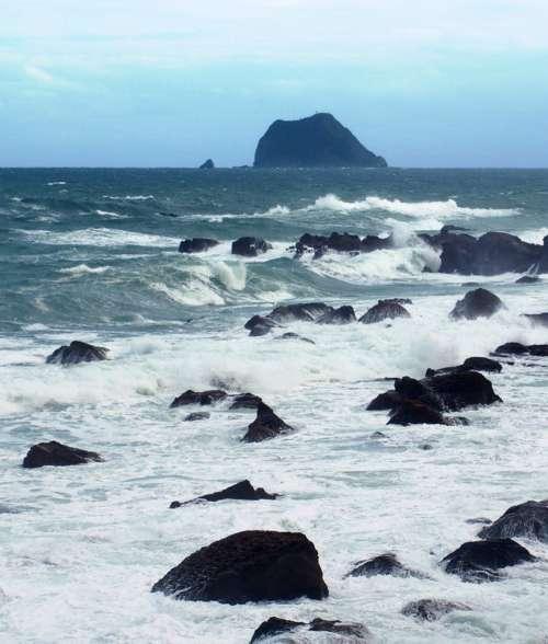 Landscape of the Coast of Wanli, Taiwan free photo