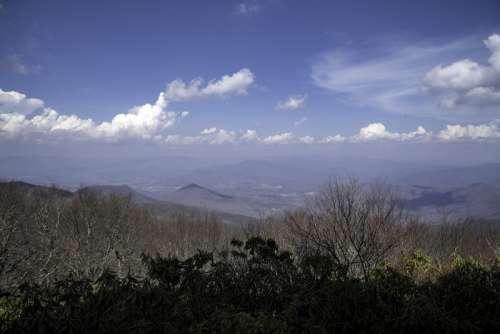 Landscape overlook from Brasstown Bald, Georgia free photo