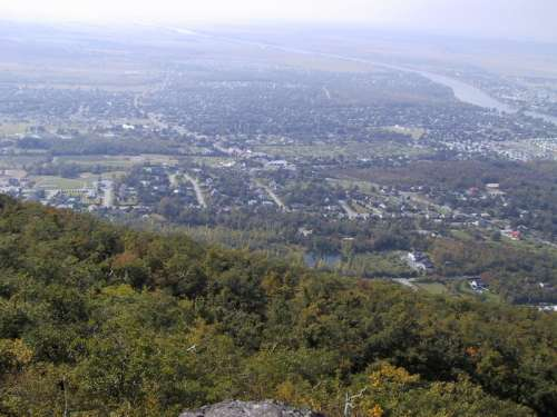 Landscape view from Mont Saint-Hilaire in Quebec, Canada free photo
