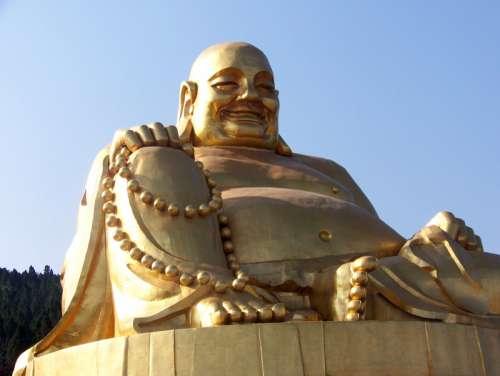Large Golden Buddha Statue in Jinan, China free photo