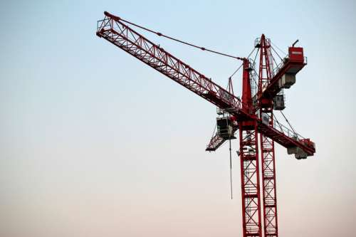 Large Red Load Crane free photo