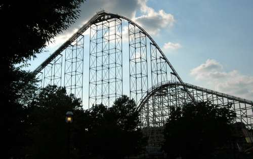 Large Rollercoaster in Allentown, Pennsylvania free photo