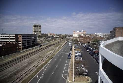 Large Street and cars in Durham, North Carolina free photo