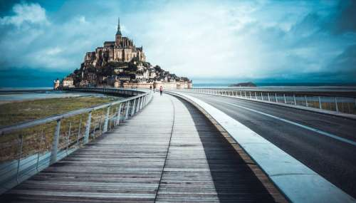 Le Mont-Saint-Michel, France free photo