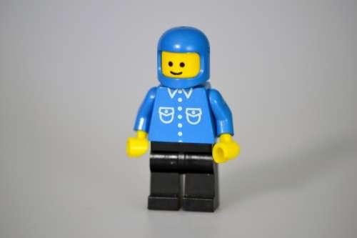 Lego Man in Helmet free photo